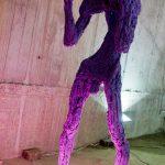 """""""без заглавие"""" /виолетов/,полиуретан, полиестер, неон, оцветен, 75x77xH195cm, 2015,"""