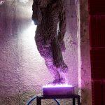 """""""без заглавие"""" /сив/,полиуретан, полиестер, неон, оцветен, 47x47xH124cm, 2015"""