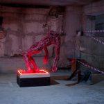 """""""без заглавие"""" /по Ел Греко/,полиуретан, полиестер, неон, оцветен, 73x105xH125cm, 2015,"""